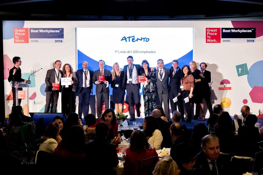 Atento aparece en la lista Best Workplaces España 2018.