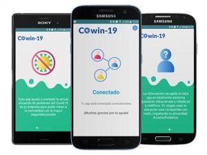 COwin-19, una aplicación que ayuda a las empresas a ofrecer un entorno de trabajo seguro.