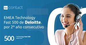 GoContact, de nuevo en la clasificación EMEA Technology Fast 500 de Deloitte.