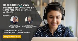 Webinar para dar a conocer los datos del informe CX Realidades 2020 de Sabio.