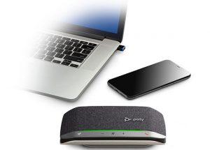 Llega al mercado la familia Poly Sync, una nueva gama de altavoces inteligentes.