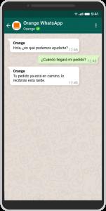 Canal de WhatsApp de Orange.