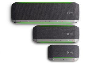 Galardonadas la barra de vídeo, Poly Studio P15, y la familia de altavoces Poly Sync .
