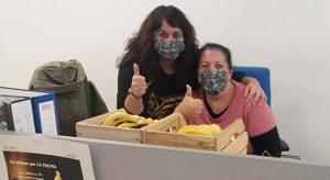 """Campaña solidaria, """"un plátano por La Palma""""."""